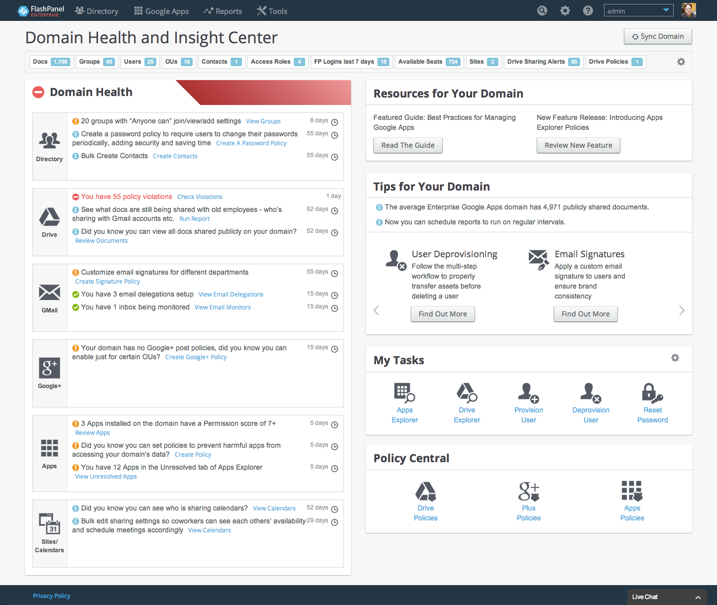 FlashPanel-Domain-Health-and-Insight-Center-R